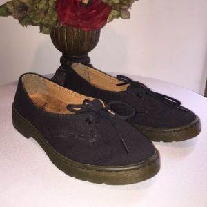 Dr. Martens Morada Black Canvas Shoes Size 6